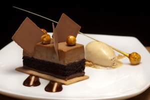 delicious Valrhona Chocolate dessert